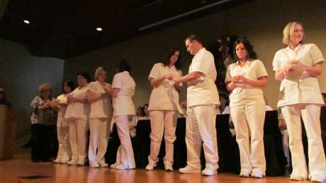 Nursing pinning ceremony.