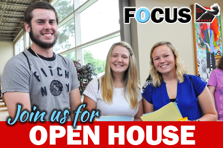 Picture of students at Open House Event
