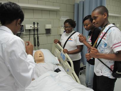 Upward Bound students visit to UT Health Science Center