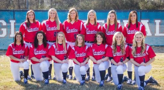 Photo of the 2014-2015 DSCC Lady Eagles Softball Team