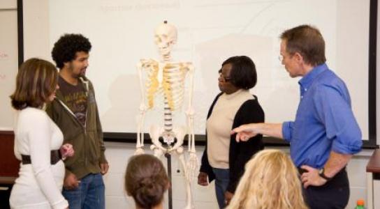 Professor Rob Martin instructs students