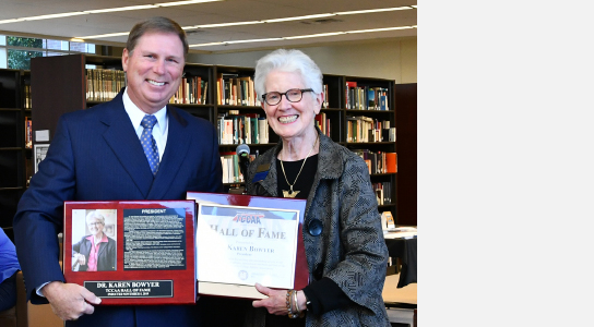 Dr. Karen Bowyer inducted into the TCCAA Hall of Fame