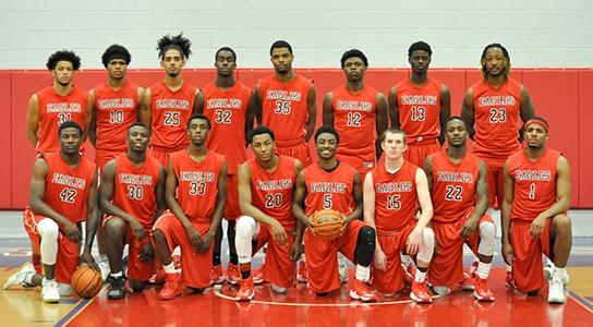 DSCC Men's basketball team 2016-2017