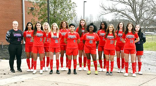2020-2021 women's soccer team