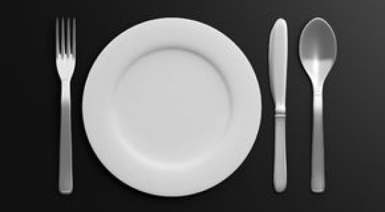 The Big Meal logo with a plate, fork, spoon and knife